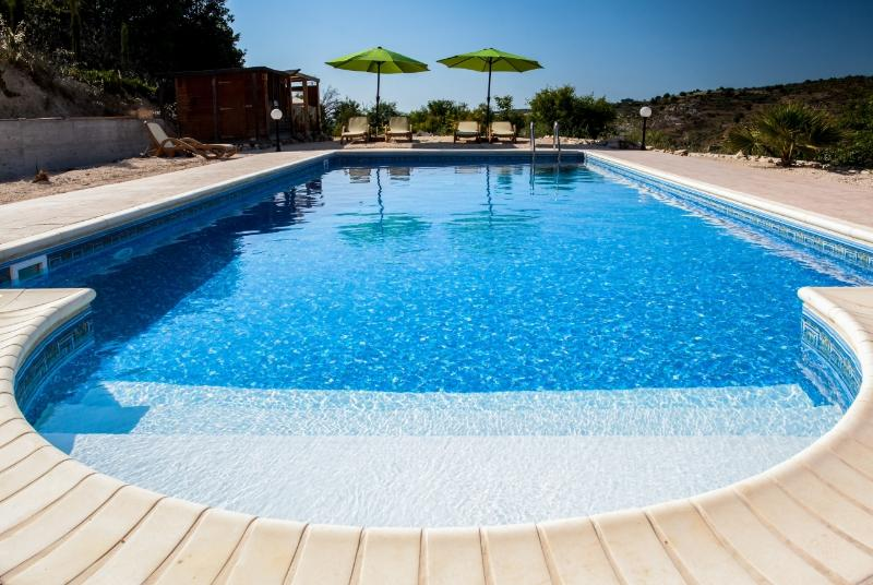 10M X 5M private pool with roman steps for easy access