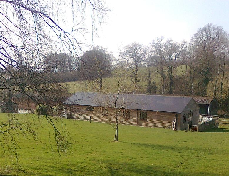 The Games Barn set in 30 acres of working farmland with fantastic views over open countryside