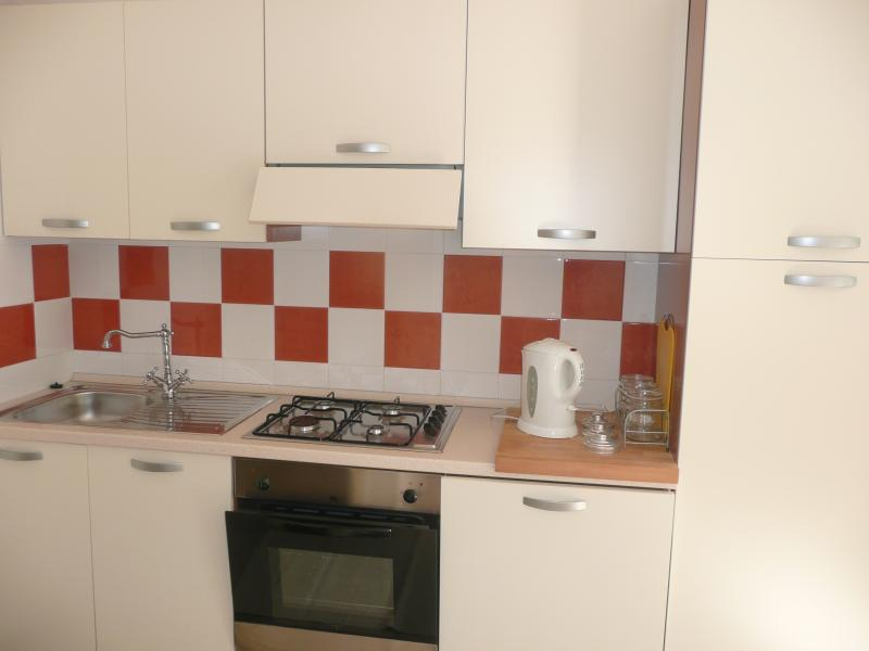 Newly fitted modern kitchen with dishwasher