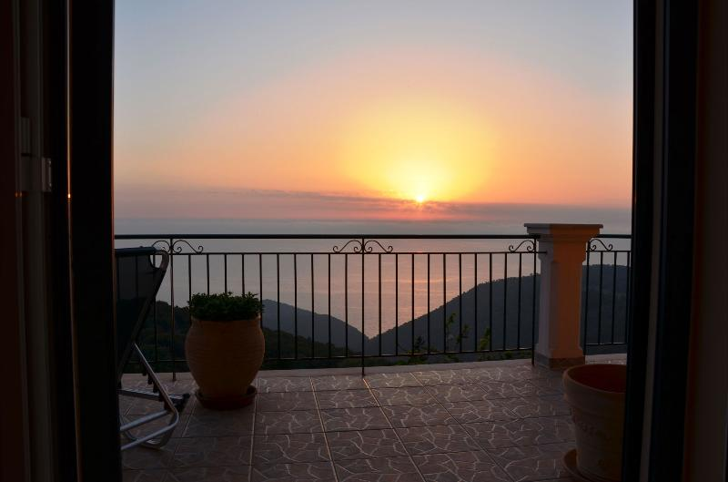 Amazing sunset from bedroom