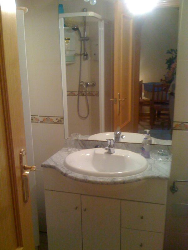 Batroom with toilet, large shower and sink unit (all towels and bed linen provided)
