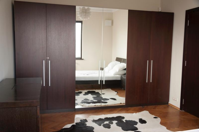 There is a huge wardrobe in the second bedroom that is very convenient if you are staying longer