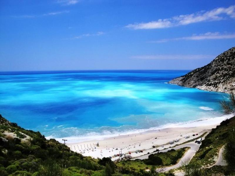 The famous Myrtos beach is just a few minutes by car.