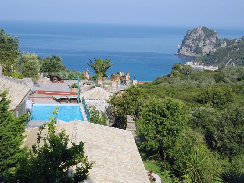 Magic view from Ermones Villas
