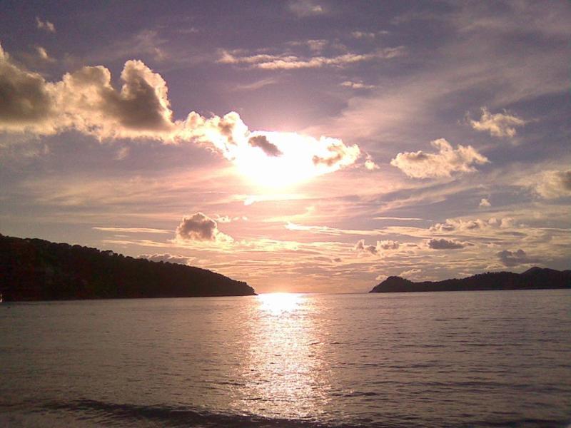 sunset on Lopud island