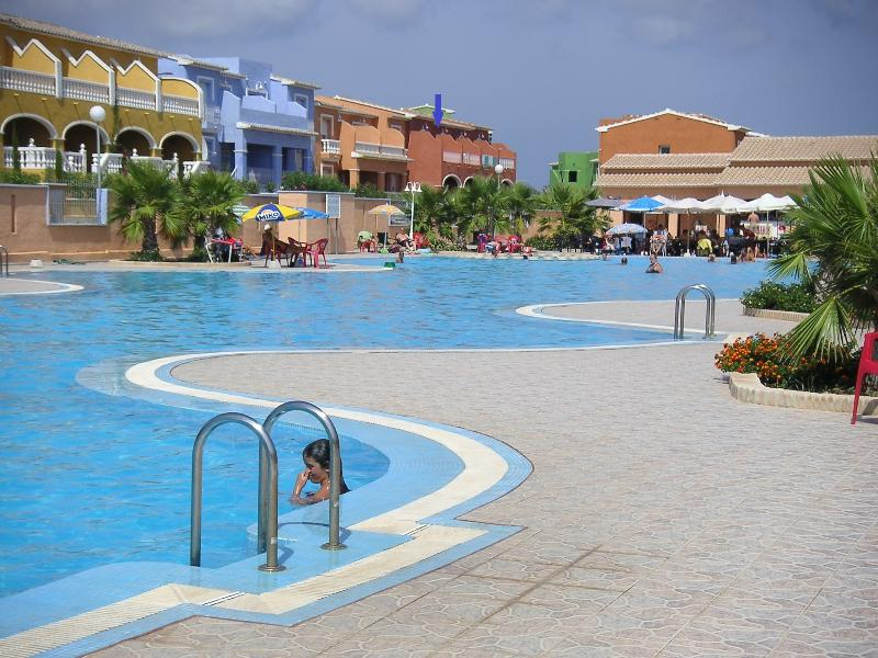 Overlooking Main Pool with shallow end & kids pool