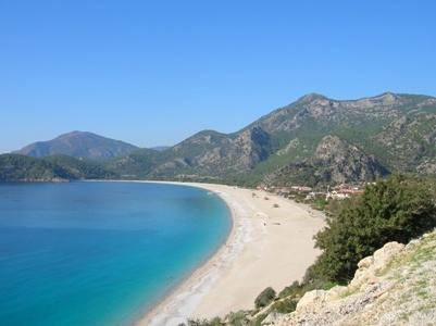 The beautiful beach at Oludeniz