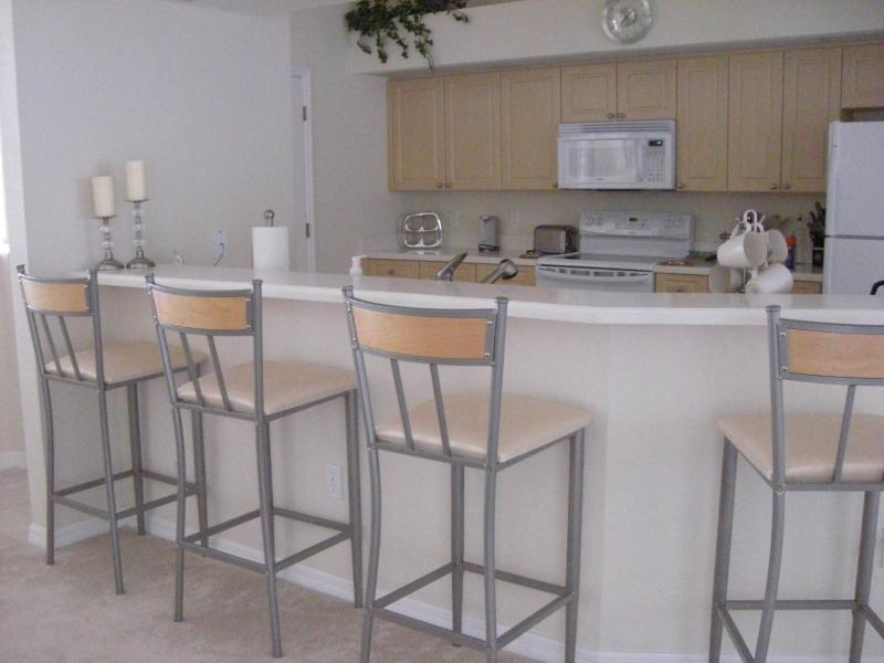 Kitchen and counter area