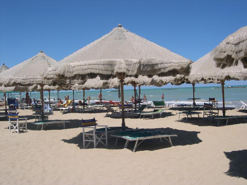 White sandy beaches and clear turquoise sea of Pescara