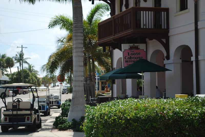 Lunch on Boca Grande Island 10 minutes away