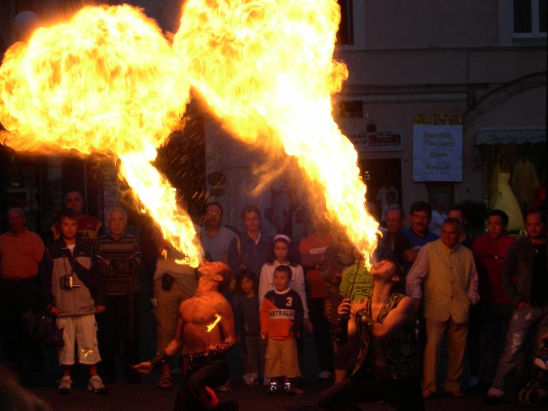 Enjoy 'hot' summer evenings, experiencing the sights at the many local festivals...