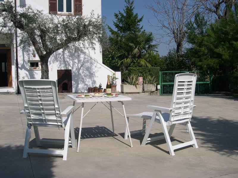 ...Or simply relax in the sunny courtyard at Casa Bianca