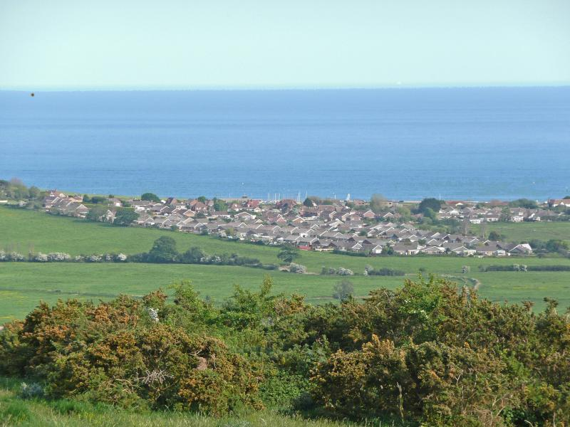 View of Beach Haven from the Downs