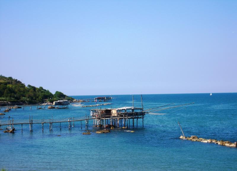 Famous 'trabocchi' are dotted along the beautiful Abruzzese coastline