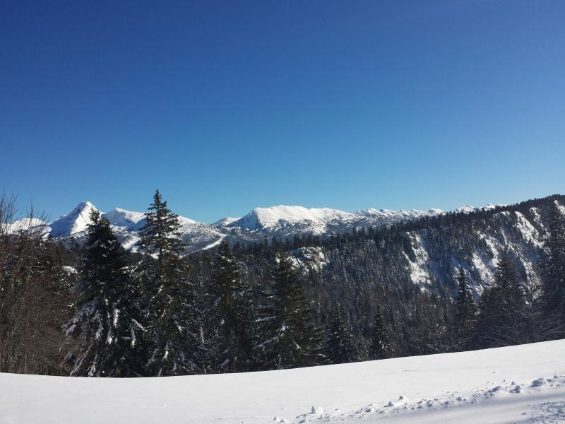 view of the Vercors mountains on a cross-country ski trail departing from 'Bois Barbu'