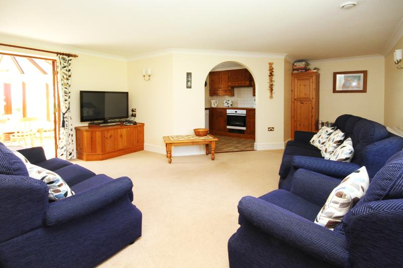 Relax in the spacious sitting room