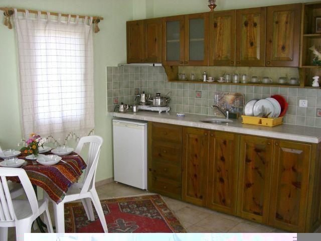 Open plan kitchen and all utensils