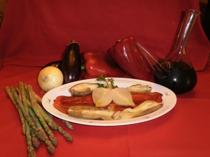 Cenas de Casa Tomaso con productos frescos y naturales