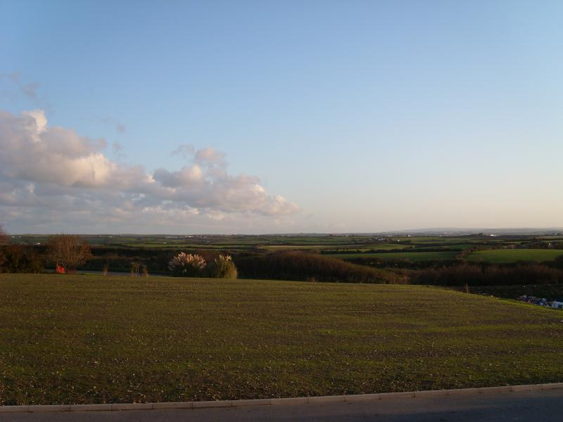 View from the lodge across Bodmin moor