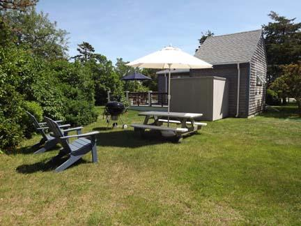 Back Yard with Picnic Table and Grill