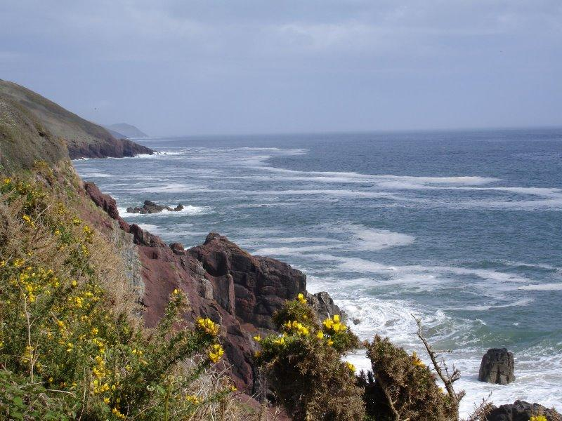 View from the Coastal path which is a 5 minute walk away