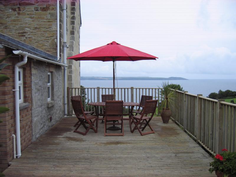 Deck with coastal views