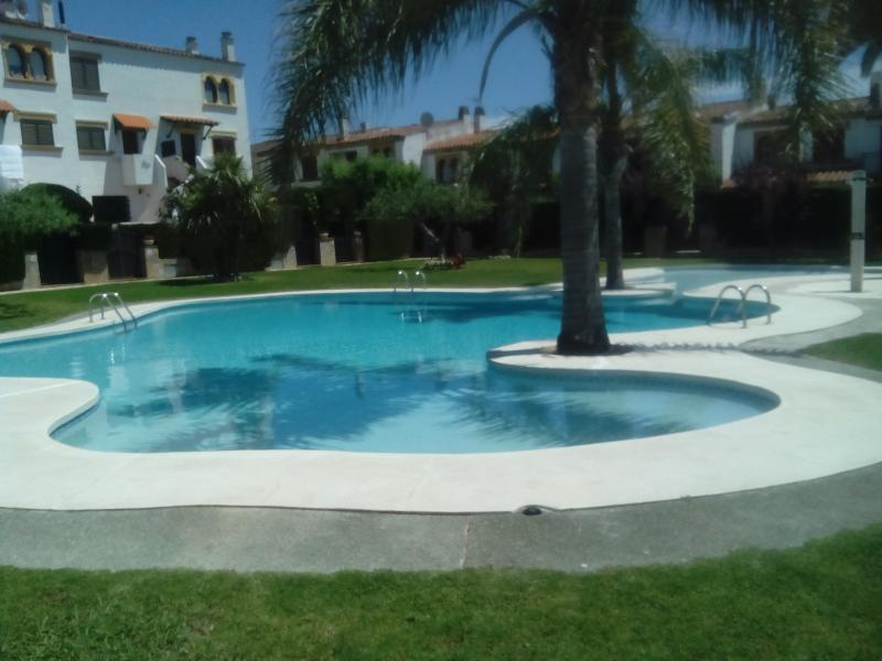 Front of pool