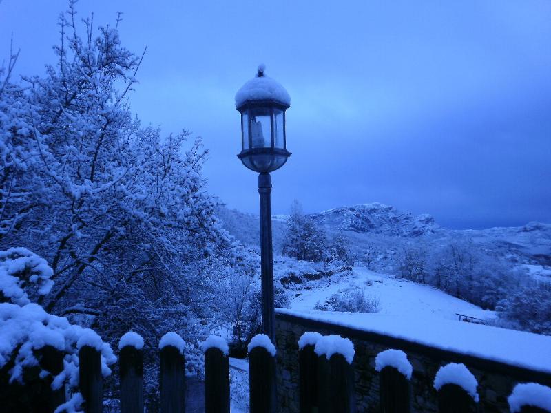 La caída de la nieve nos ofrece una imagen mágica de nuestro Valle