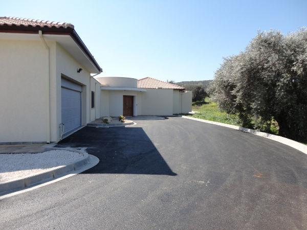 Front entrance overlooking Ayios Valley and olive trees set in 2 acres