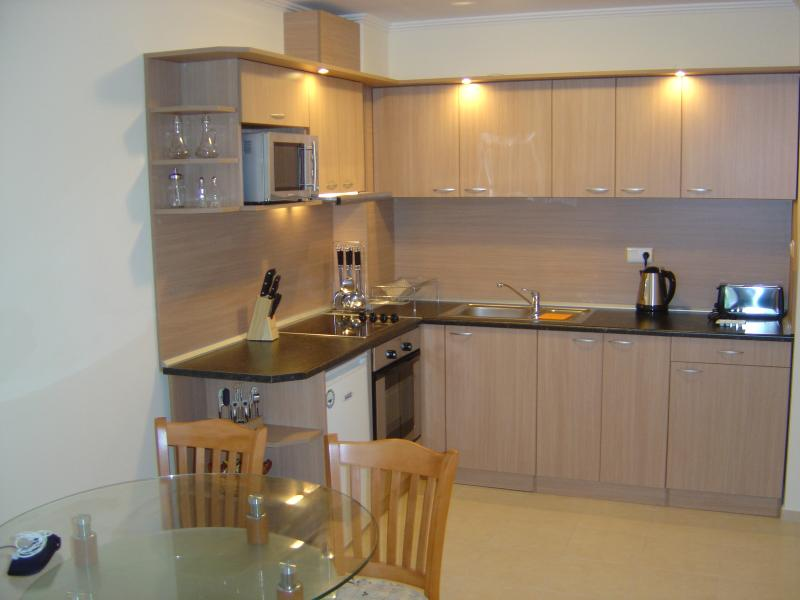 Le moderne bel kitchenette entièrement équipée, il y a même une machine à laver !