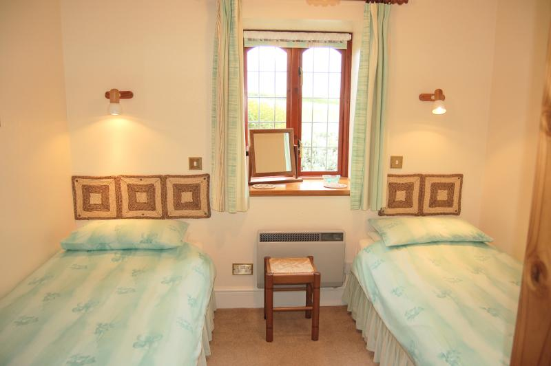 Second bedroom with views over farmland