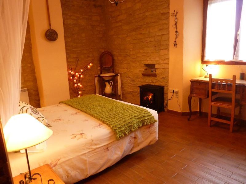 The garden apartment bedroom