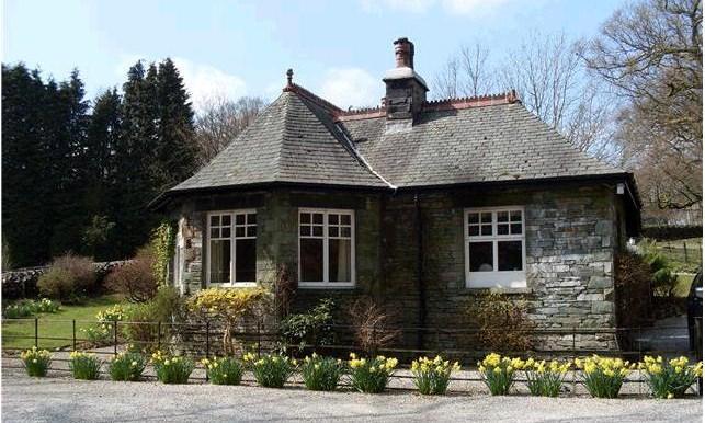 Park Gates Lodge in Spring, taken from Scandale beck opposite