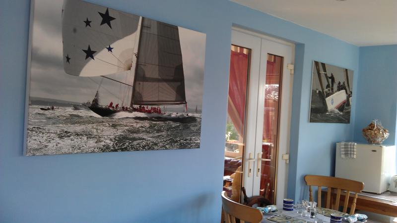 A nautical theme throughout with fantastic action yachting scenes by a local photographer