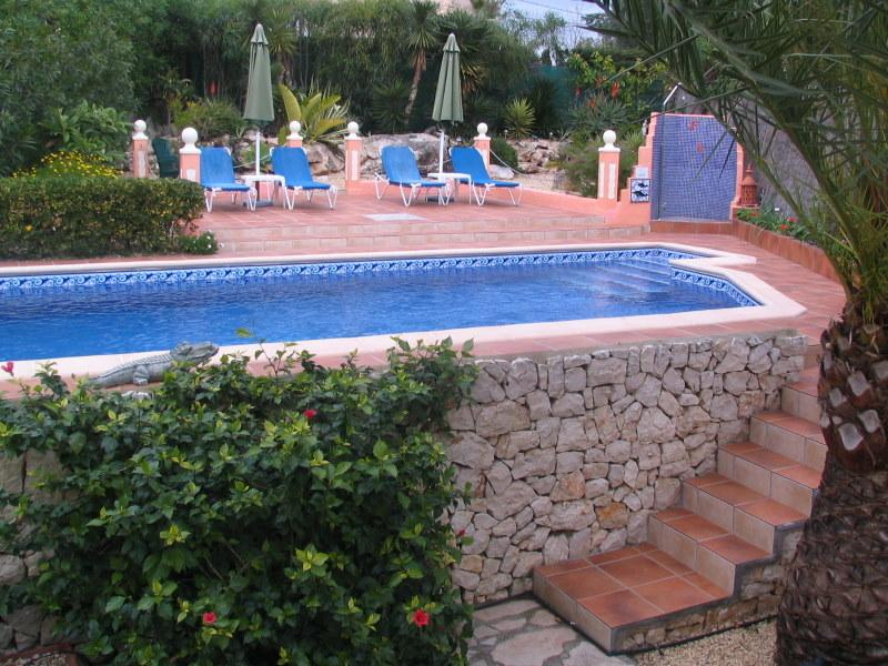 Private heated pool Secluded sun bathing area