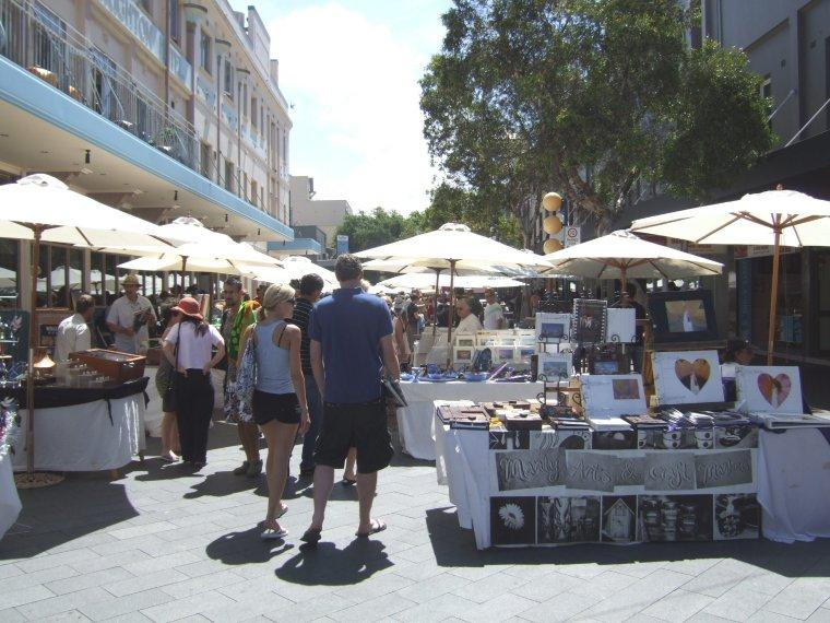 There is much to see and do in Manly such as the weekend markets.