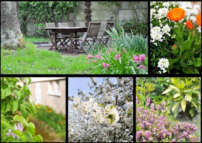 Een tuin die gedeeld met de eigenaars