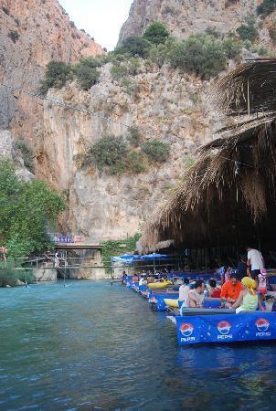 Walk through stunning Saklikent gorge and dine at the floating restaurant