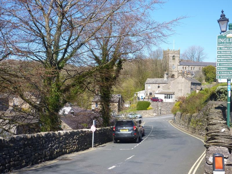 Looking up Ingleton Main Street