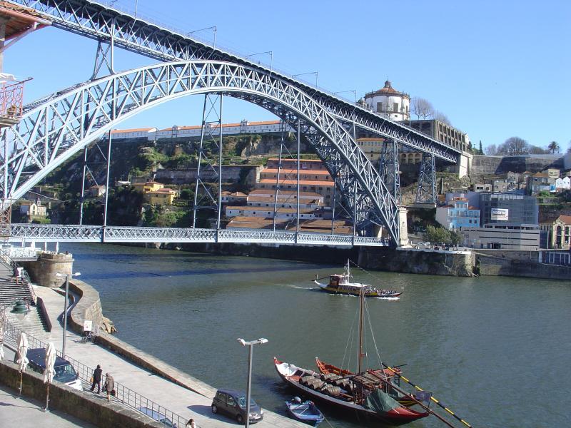 View from window to D. Luis bridge