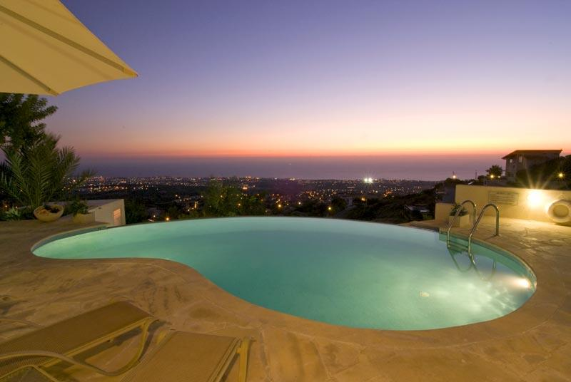 Private Pool at Sunset