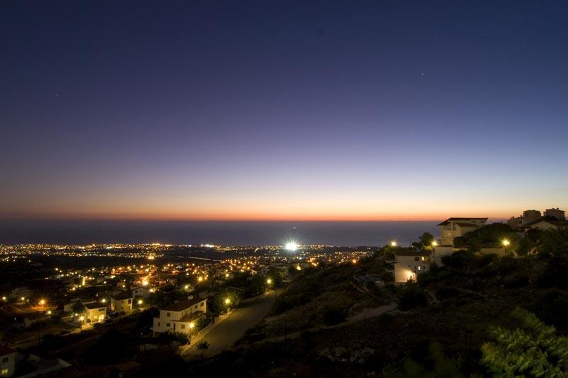 Views over Tala at night