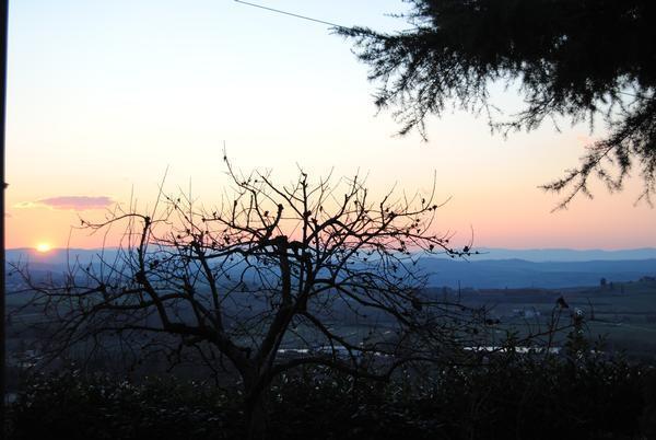 tramonto sulle crete