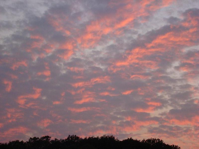 lever de soleil depuis la chambre les Alizés - the sky from the room les Alizés