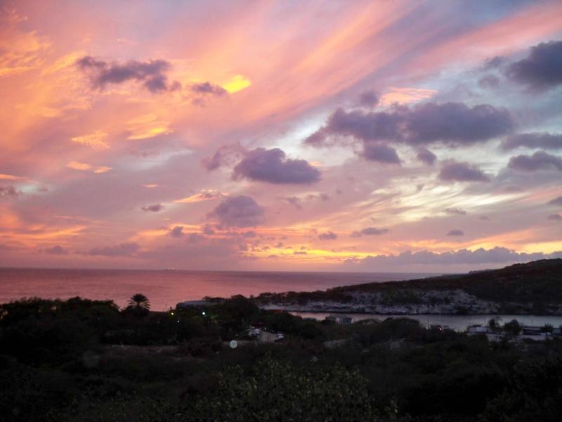 Piscadera Bay at sunset