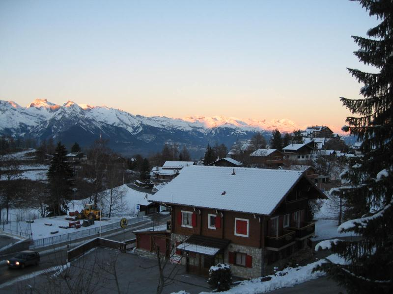 Sunset over Nendaz and the Rhone Valley