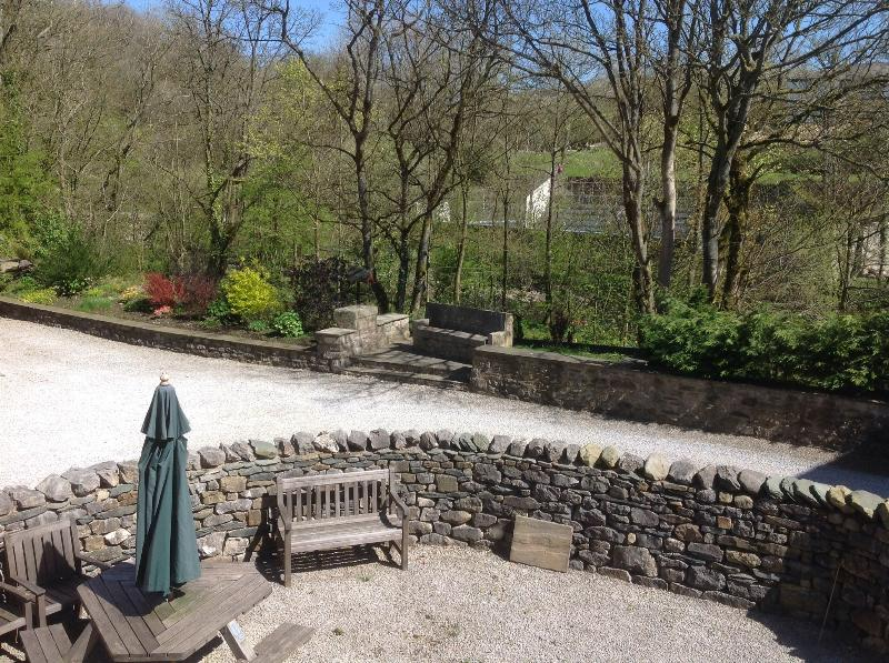 View from lounge towards the river and outdoor swimming pool