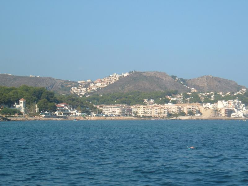 Moraira from the sea