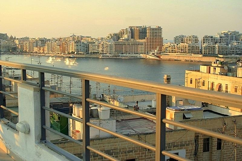 View of Sliema from Roof Top Terrace