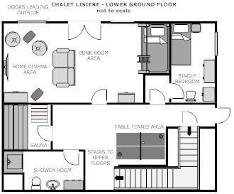 Lisiere lower ground floor plan